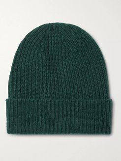 Ribbed Cashmere Beanie - Men - Green