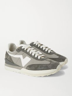 FKT Runner Suede- and Leather-Trimmed Nylon-Blend Sneakers - Men - Gray