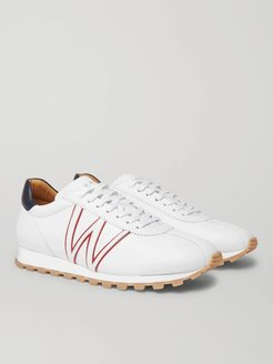 On My Way Leather Sneakers - Men - White