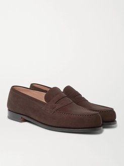 180 Moccasin Suede Loafers - Men - Brown