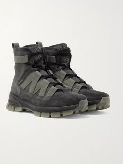 Tech-Canvas and Suede Boots - Men - Gray