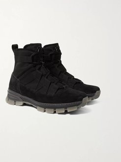 Tech-Canvas and Suede Boots - Men - Black
