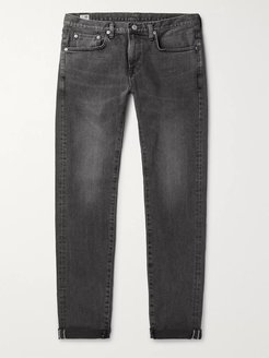 Kaihara Slim-Fit Selvedge Stretch-Denim Jeans - Men - Gray