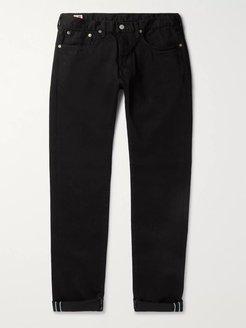 Kaihara Slim-Fit Selvedge Stretch-Denim Jeans - Men - Black