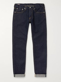 Kaihara Slim-Fit Selvedge Stretch-Denim Jeans - Men - Blue