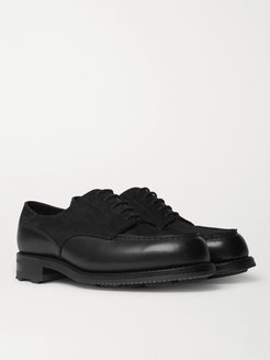 Suede and Leather Derby Shoes - Men - Black
