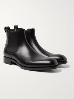 Walter Leather Chelsea Boots - Men - Black