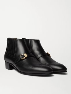 Worsh Leather Boots - Men - Black