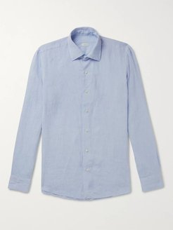Slim-Fit Linen Shirt - Men - Blue
