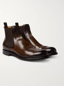 Tempus Polished-Leather Chelsea Boots - Men - Brown