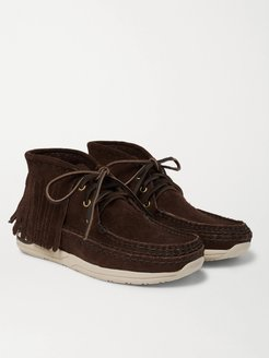 Voyageur Shaman Fringed Suede Boots - Men - Brown