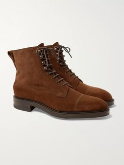 Galway Cap-Toe Suede Boots - Men - Brown