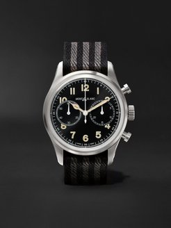 1858 Automatic Chronograph 42mm Stainless Steel and NATO Webbing Watch, Ref. No. 117835 - Men - Black