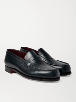 Leather Penny Loafers - Men - Blue