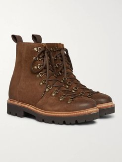 Brady Brushed-Suede Boots - Men - Brown