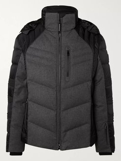 Bruce-D Quilted Panelled Virgin Wool-Blend and Shell Down Ski Jacket - Men - Gray