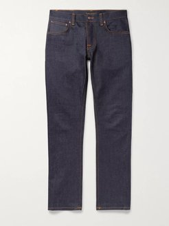Grim Tim Slim-Fit Organic Stretch-Denim Jeans - Men - Blue