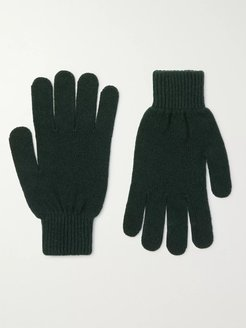Cashmere and Merino Wool-Blend Gloves - Men - Green