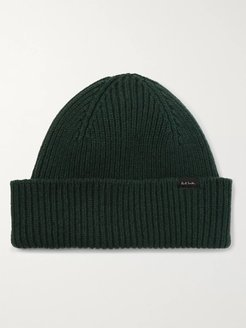 Ribbed Cashmere and Wool-Blend Beanie - Men - Green