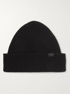 Ribbed Cashmere and Wool-Blend Beanie - Men - Black