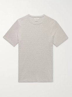 Miverton Slim-Fit Ribbed Recycled Cotton-Blend T-Shirt - Men - Gray