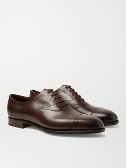Chelsea Cap-Toe Burnished-Leather Oxford Shoes - Men - Brown