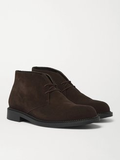 Suede Desert Boots - Men - Brown