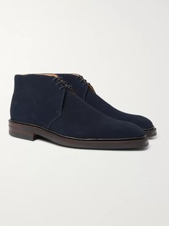 Nathan Suede Chukka Boots - Men - Blue
