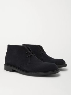 Suede Desert Boots - Men - Blue
