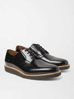 Polished-Leather Derby Shoes - Men - Black