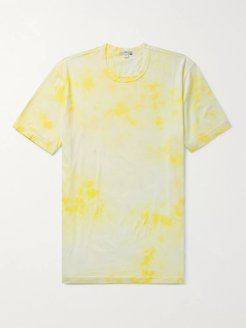 Tie-Dyed Combed Cotton-Jersey T-Shirt - Men - Yellow