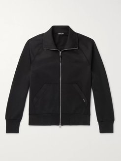 Tech-Jersey Track Jacket - Men - Black