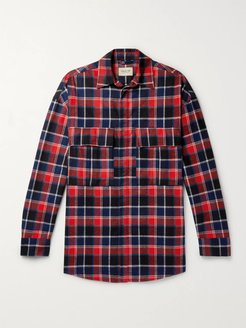 Oversized Checked Cotton-Flannel Shirt - Men - Red