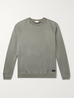 Fleece-Back Cotton-Jersey Sweatshirt - Men - Green