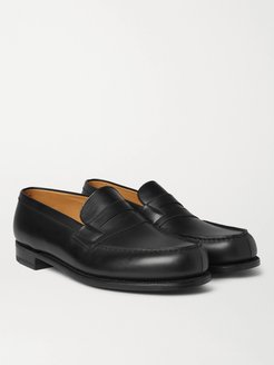 180 Moccasin Leather Penny Loafers - Men - Black