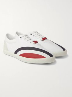 Suede, Rubber and Canvas Sneakers - Men - White