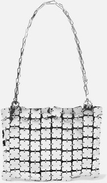 Square 1969 Chainmail And Leather Shoulder Bag - Silver