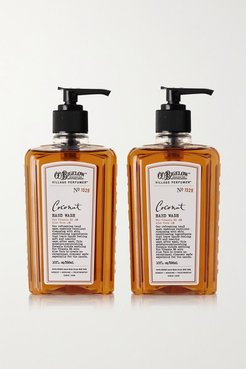 Set Of Two Coconut Hand Washes, 295ml - Colorless