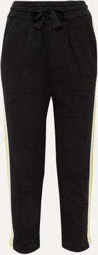 Dreamer Striped Cotton-jersey And Grosgrain Track Pants - Black