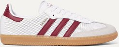 Samba Og Perforated Leather And Suede Sneakers - White