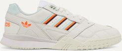 A.r. Trainer Grosgrain-trimmed Quilted Leather Sneakers - Off-white