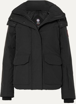 Blakely Hooded Shell Down Jacket - Black