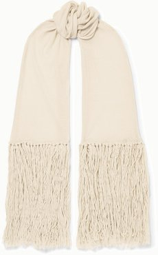 Tasseled Cashmere And Wool-blend Wrap - Ivory