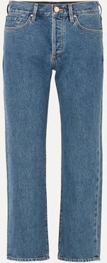 The Relaxed Straight Mid-rise Straight-leg Jeans - Indigo