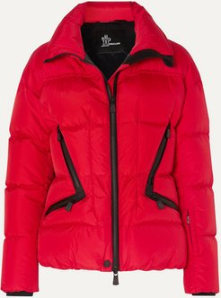 Dixence Quilted Down Ski Jacket - Red