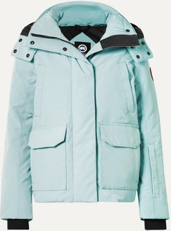 Blakely Hooded Shell Down Jacket - Sky blue