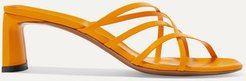 Mannia Leather Sandals - Orange