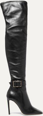 Takara 100 Leather Over-the-knee Boots - Black
