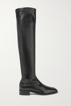 Theophila 30 Stretch-leather Over-the-knee Boots - Black