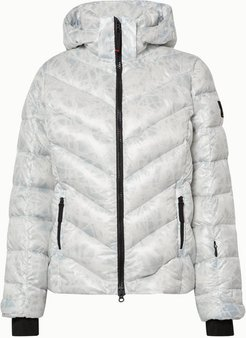 BOGNER FIREICE - Sassy2 Hooded Printed Quilted Down Ski Jacket - White